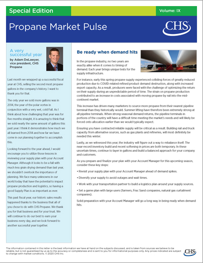 Special Edition of CHS Propane Market Pulse